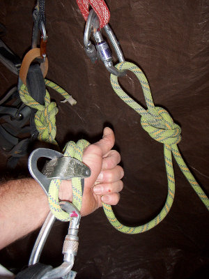 …moving it into a lead belay position without unclipping and rethreading the device.