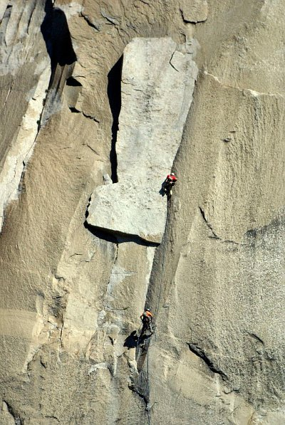 The Boot Flake pitch on The Nose of El Capitan.