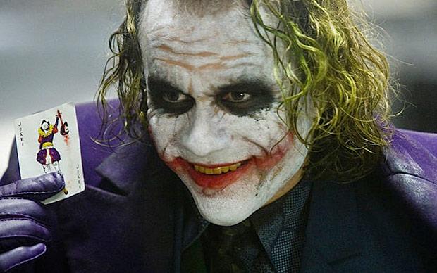 Did ice climbing do this to him? Heath Ledger's portrayal of the Joker in the movie, The Dark Knight. Batmanwikia.com